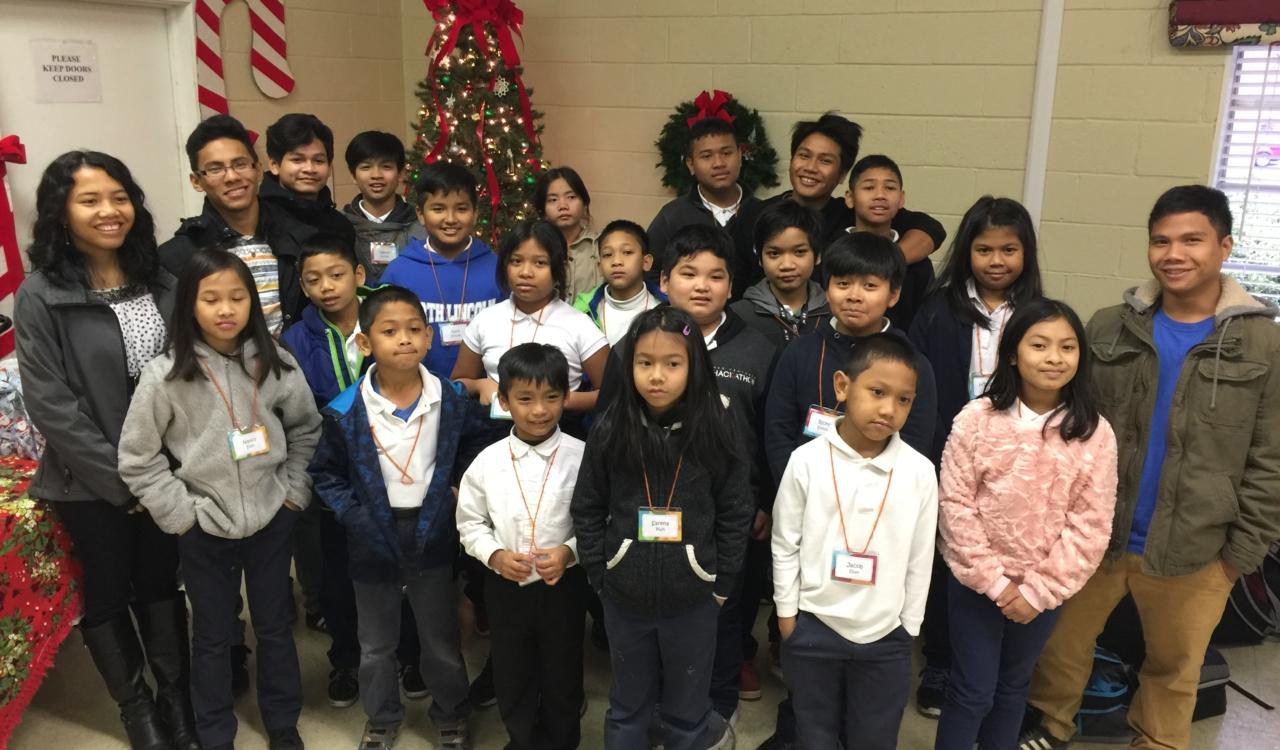 FOCHUS Academy afterschool students and tutors