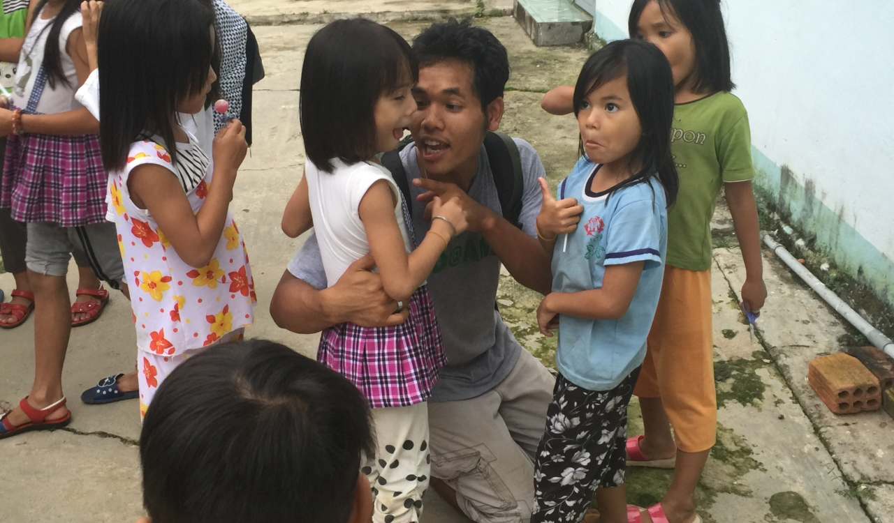 Working with orphans in Vietnam