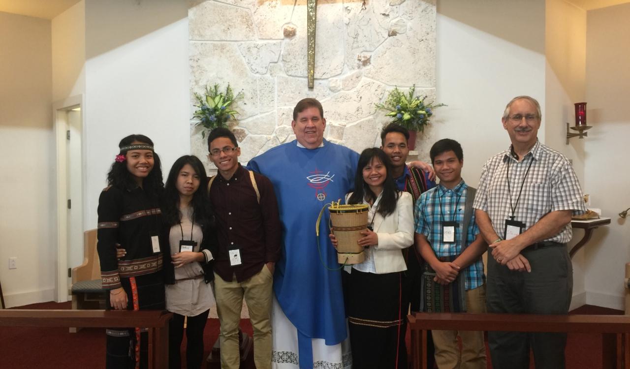 Boomerang Mission Team sharing their story at partnering church